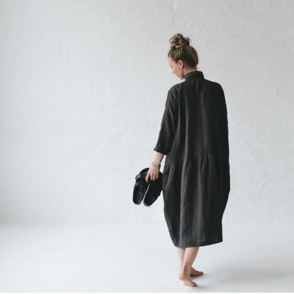 2eef26efa3 Seaside Tones Oversized Linen Dress - Grey